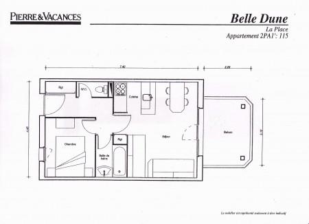 plan appartement pierre et vacances